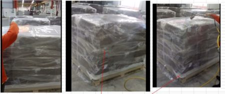 ถุงมุ้งพลาสติกสำหรับคลุมสินค้าบนพาเลท